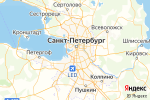 Карта г. Санкт-Петербург Ленинградская область