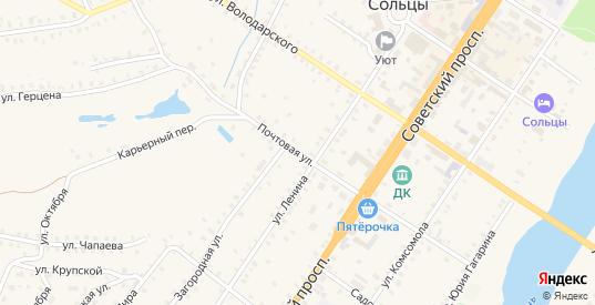 Почтовая улица в Сольцах с номерами домов на карте. Спутник и схема онлайн