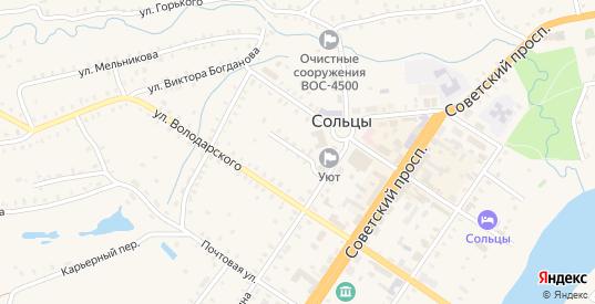 Переулок Гоголя в Сольцах с номерами домов на карте. Спутник и схема онлайн