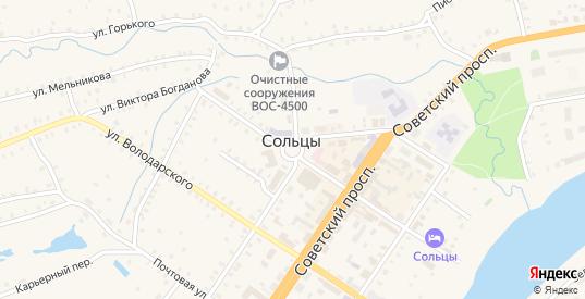 Площадь Победы в Сольцах с номерами домов на карте. Спутник и схема онлайн