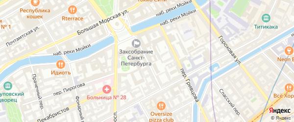 Переулок Антоненко на карте Санкт-Петербурга с номерами домов