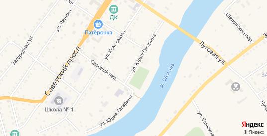 Улица Гагарина в Сольцах с номерами домов на карте. Спутник и схема онлайн