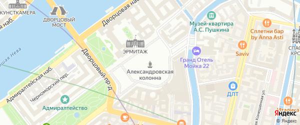 Ситцевый переулок на карте Санкт-Петербурга с номерами домов