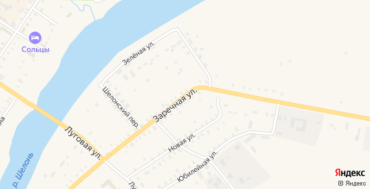 Заречная улица в Сольцах с номерами домов на карте. Спутник и схема онлайн