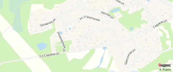 1-й проезд на карте деревни Мендсар Ленинградской области с номерами домов