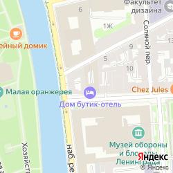 Апартамент-отель рядом с Летним садом на улице Гангутская на карте