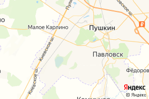 Карта г. Пушкин Ленинградская область
