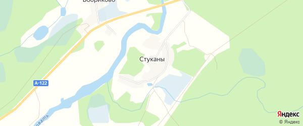 Карта деревни Стуканы в Псковской области с улицами и номерами домов