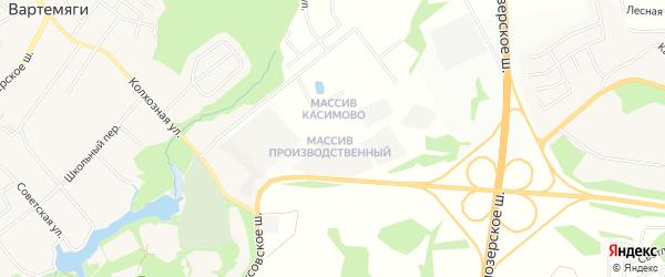 Территория Массив Производственный на карте Всеволожского района Ленинградской области с номерами домов