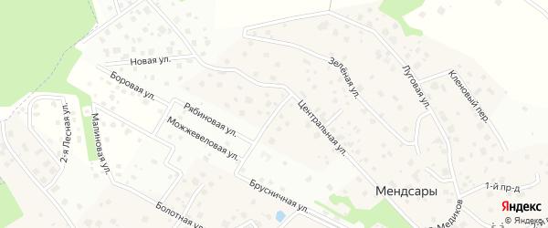 Спортивная улица на карте деревни Мендсар Ленинградской области с номерами домов