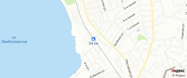 Платформа 54 км (55 км пикет 9) на карте Всеволожского района Ленинградской области с номерами домов