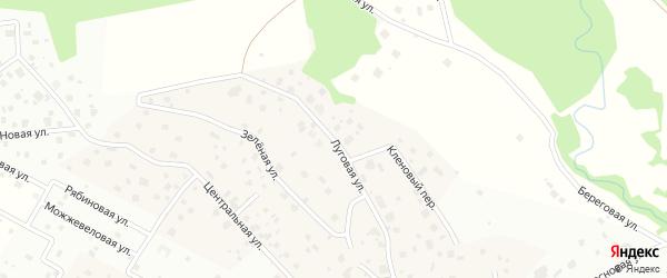 Луговая улица на карте деревни Мендсар Ленинградской области с номерами домов
