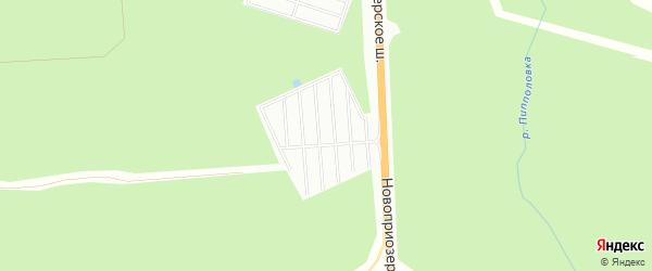 Территория СНТ Грузино-9 на карте Всеволожского района Ленинградской области с номерами домов