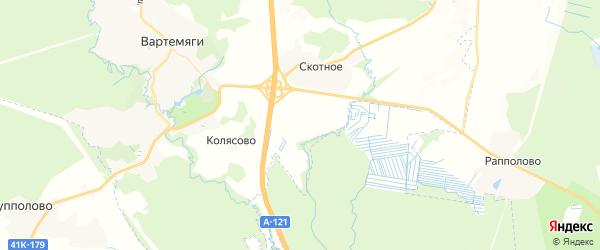 Карта массива Скотного Ленинградской области с районами, улицами и номерами домов