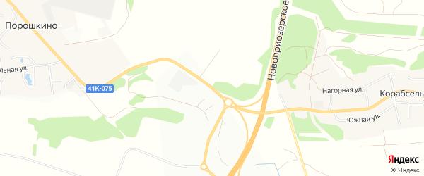 Территория 7-й км железнодорожная платформа на карте деревни Новосергиевки Ленинградской области с номерами домов