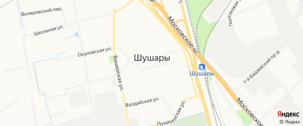 Территория предприятия Шушары на карте Санкт-Петербурга с номерами домов