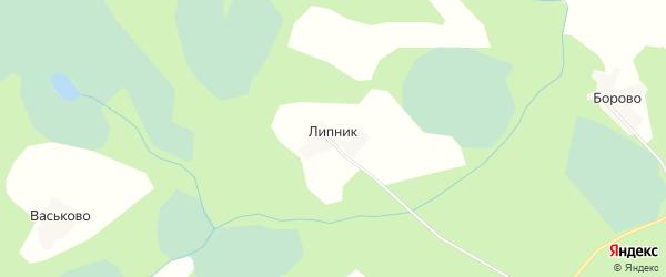 Карта деревни Липника в Псковской области с улицами и номерами домов