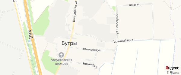 Карта поселка Бугры в Ленинградской области с улицами и номерами домов