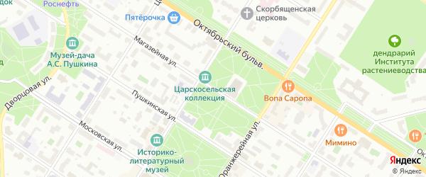 Магазейная улица на карте Пушкина с номерами домов