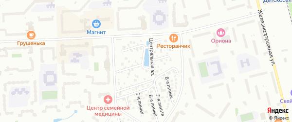 Сдт Коллективный Сад N3 Косая аллея на карте Пушкина с номерами домов