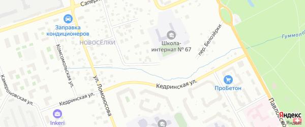 Переулок Белозёрки на карте Пушкина с номерами домов