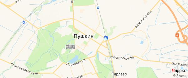 Карта Пушкина с районами, улицами и номерами домов