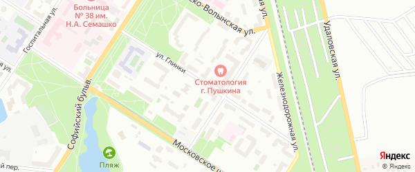 Улица Глинки на карте Пушкина с номерами домов