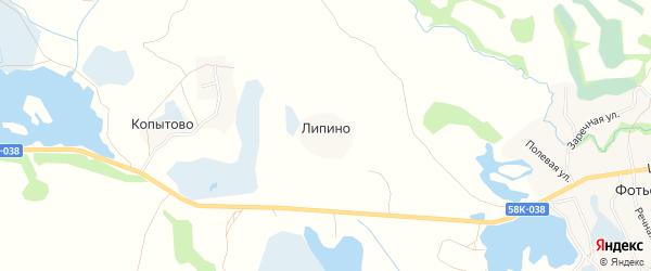 Карта деревни Липино в Псковской области с улицами и номерами домов