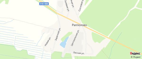 Карта деревни Рапполово в Ленинградской области с улицами и номерами домов