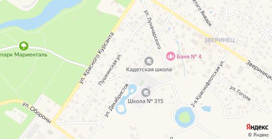 Улица Декабристов в Павловске с номерами домов на карте. Спутник и схема онлайн