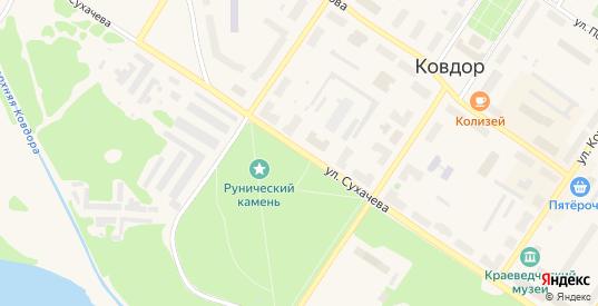Улица Сухачева в Ковдоре с номерами домов на карте. Спутник и схема онлайн