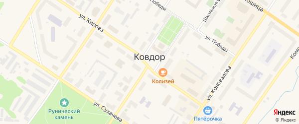 Промплощадка Северная территория на карте Ковдора с номерами домов