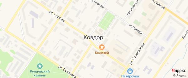 Площадь Ленина на карте Ковдора с номерами домов