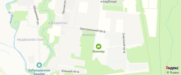 Заводская зона на карте Всеволожского района Ленинградской области с номерами домов