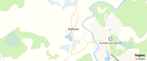 Карта деревни Бабино в Псковской области с улицами и номерами домов