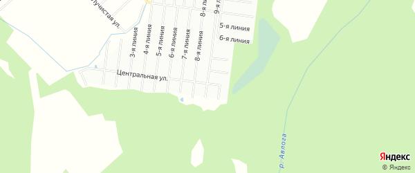 Территория днп Парковое 2 на карте Всеволожского района Ленинградской области с номерами домов