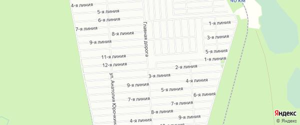 Карта СНТ Успех массива Форносово в Ленинградской области с улицами и номерами домов