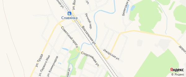 Карта поселка Петро-Славянки в Санкт-Петербурге с улицами и номерами домов