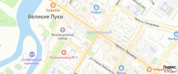 Летная улица на карте Великих Лук с номерами домов