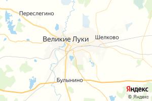 Карта г. Великие Луки Псковская область