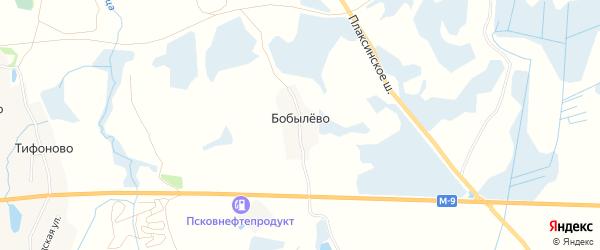 Карта деревни Бобылево в Псковской области с улицами и номерами домов