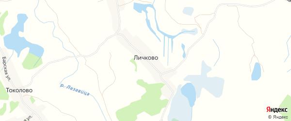 Карта деревни Личково в Псковской области с улицами и номерами домов
