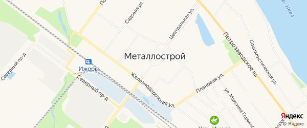 Карта Металлостроя поселка в Санкт-Петербурге с улицами и номерами домов