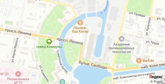Бульвар Победы в Колпино с номерами домов на карте. Спутник и схема онлайн