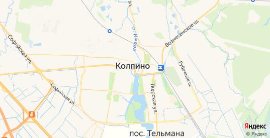 Карта Колпино с улицами и домами подробная. Показать со спутника номера домов онлайн