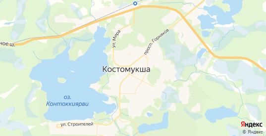 Карта Костомукши с улицами и домами подробная. Показать со спутника номера домов онлайн