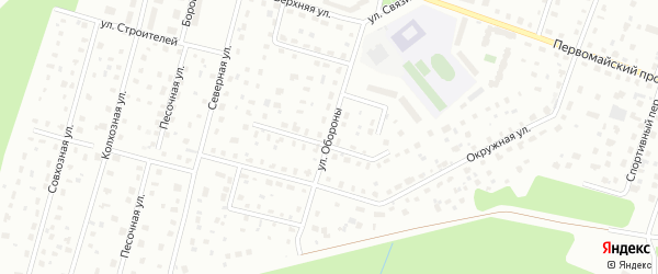 Улица Обороны на карте Всеволожска с номерами домов