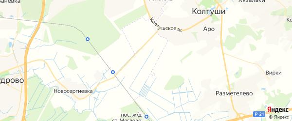 Карта территории 34 км Приозерского шоссе Ленинградской области с районами, улицами и номерами домов