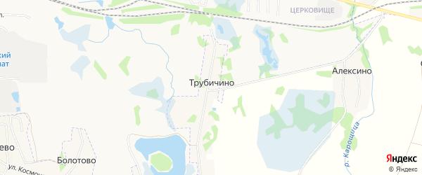 Карта деревни Трубичино в Псковской области с улицами и номерами домов