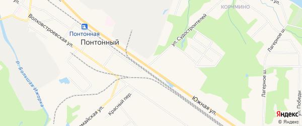 Карта Понтонного поселка в Санкт-Петербурге с улицами и номерами домов